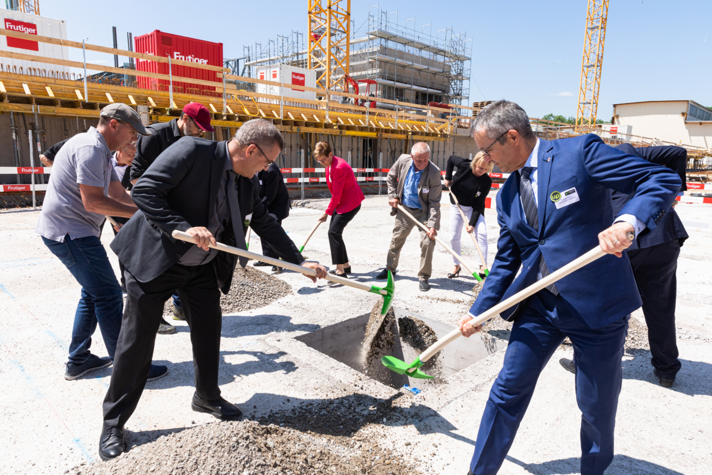 Photos for this media folder, The official laying of the uptownBasel foundation stone took place on 7 June, 2019. © Copyright Sara Barth, Basel  Digitale Medienmappe «Laying the uptownBasel foundation stone: a quantum leap for the industry», uptownBasel